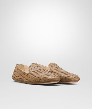 OUTDOOR SLIPPER IN CAMEL INTRECCIATO NAPPA