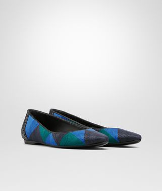 BALLERINA IN CANARD BLUETTE DARK NAVY LAMBSKIN