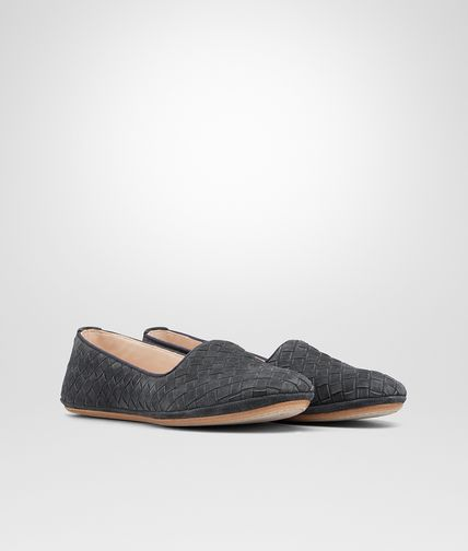 OUTDOOR SLIPPER IN ARDOISE INTRECCIATO SUEDE