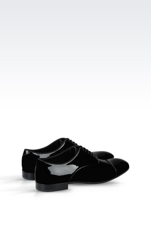 PATENT OXFORD: Lace-up shoes Men by Armani - 3