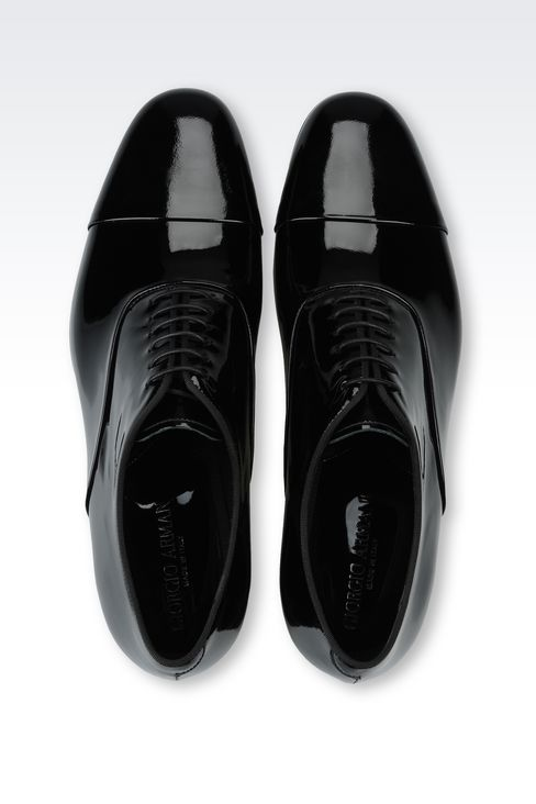 PATENT OXFORD: Lace-up shoes Men by Armani - 4