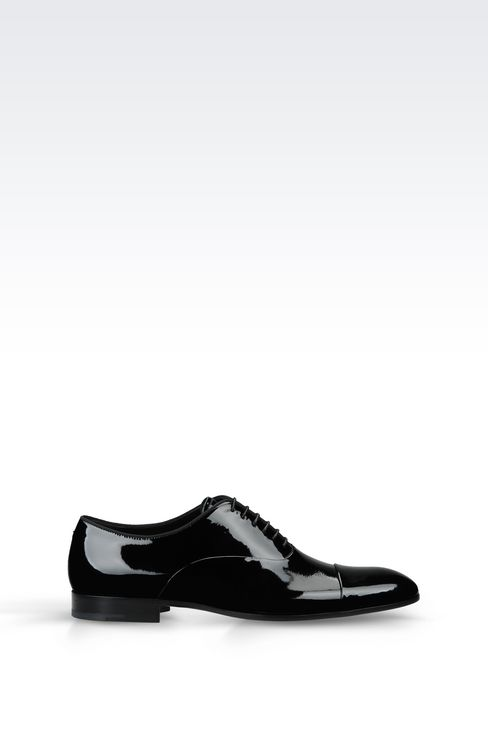 PATENT OXFORD: Lace-up shoes Men by Armani - 1