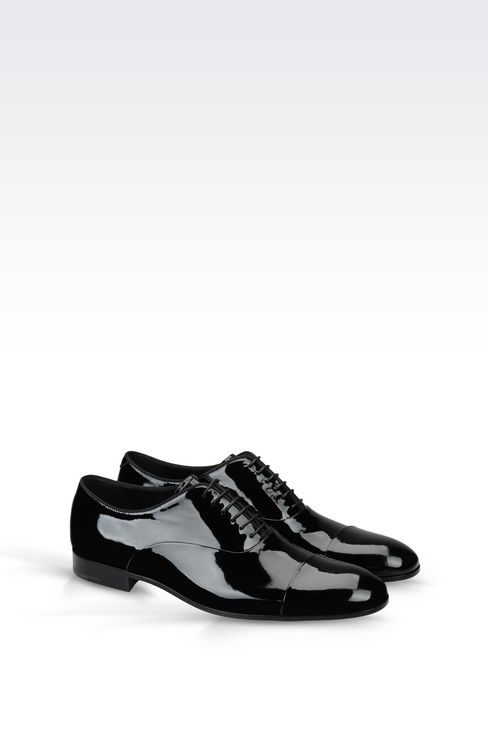 PATENT OXFORD: Lace-up shoes Men by Armani - 2