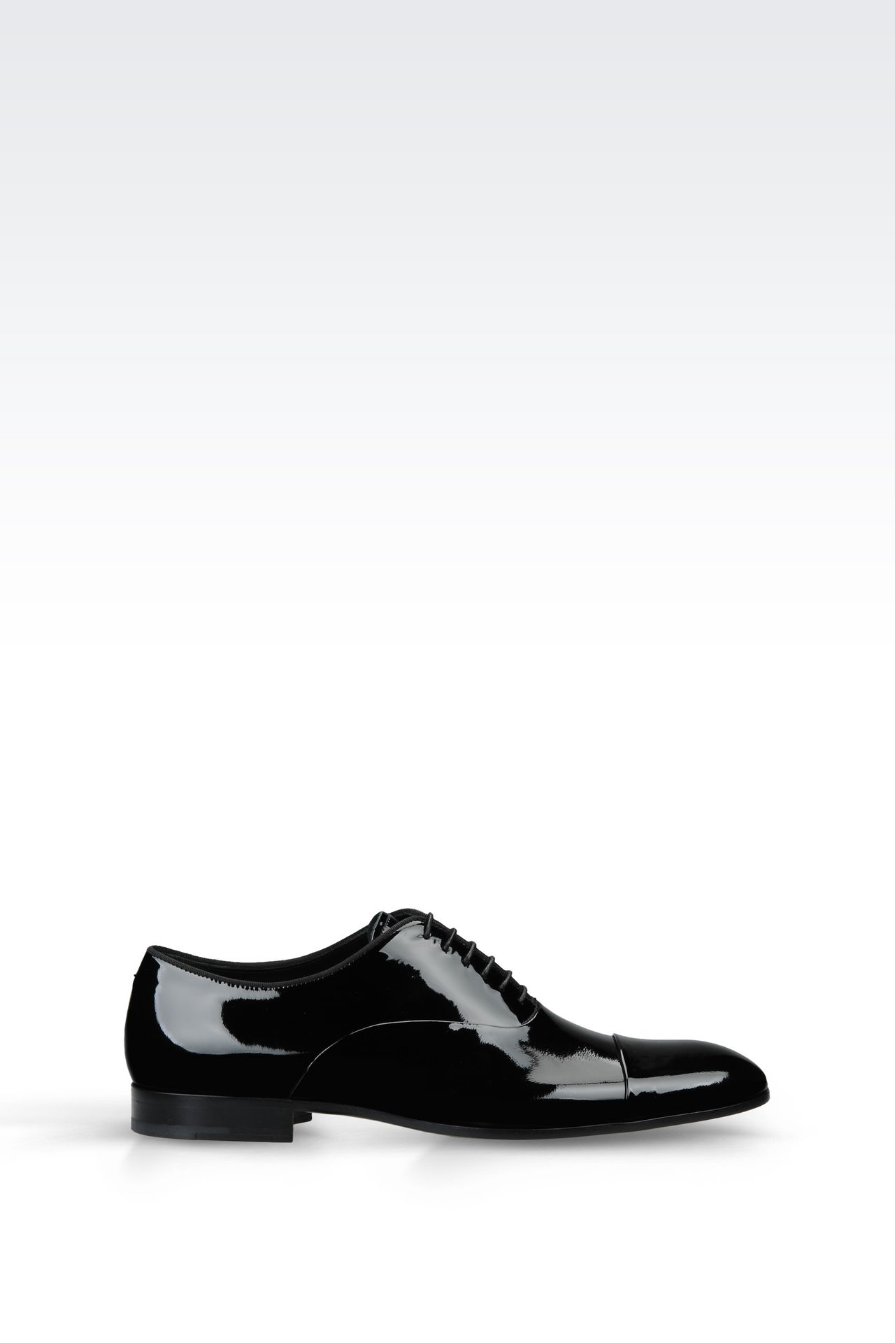 PATENT OXFORD: Lace-up shoes Men by Armani - 0