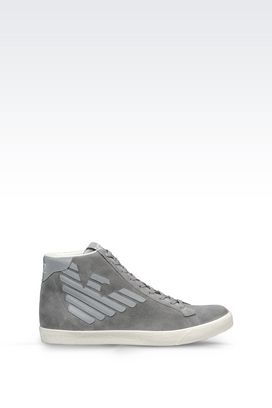 Armani Footwear Men high top sneaker in suede
