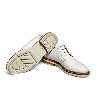 ERMENEGILDO ZEGNA: Laced Shoes Ivory - 44960537WO