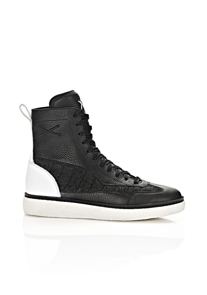 ALEXANDER WANG Sneakers Men WANGXO EDEN HIGH LEATHER SNEAKERS