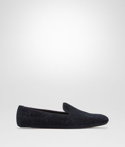OUTDOOR SLIPPER IN DARK NAVY INTRECCIATO SUEDE