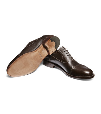 ERMENEGILDO ZEGNA: Laced Shoes Camel - 44967802LA