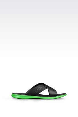 Armani Flat sandals Men flat shoe in calfskin