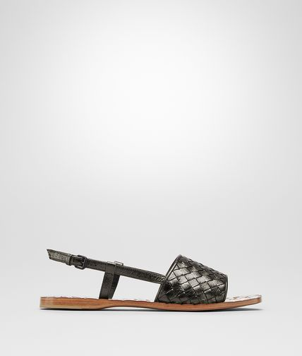 SANDALS IN ARGENTO ANTIQUE INTRECCIATO CALF