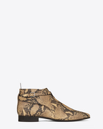 Signature LONDON 20 Jodhpur Cropped Boot in Natural Python Embossed Leather