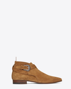 Signature LONDON 20 Western Jodhpur Cropped Boot in Tan Suede