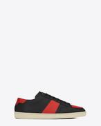 Sneaker COURT CLASSIC SL/10 en cuir noir et rouge