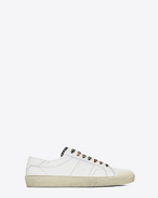 Signature COURT CLASSIC SURF SL/37 Sneaker in Off White Distressed Leather