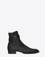 Wyatt 30 Jodhpur Boot in Black Crocodile Embossed Leather