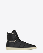 Sneakers Motocross signature COURT CLASSIC SL/34H nere in pelle