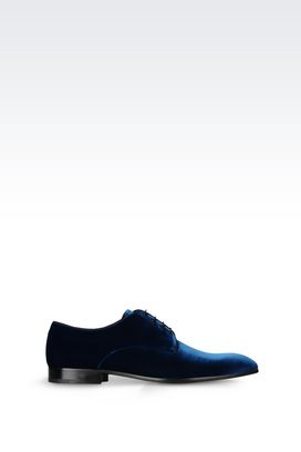 Armani Lace-up shoes Men derby in velvet