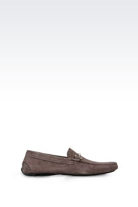 Armani Moccasins Men suede driving shoe