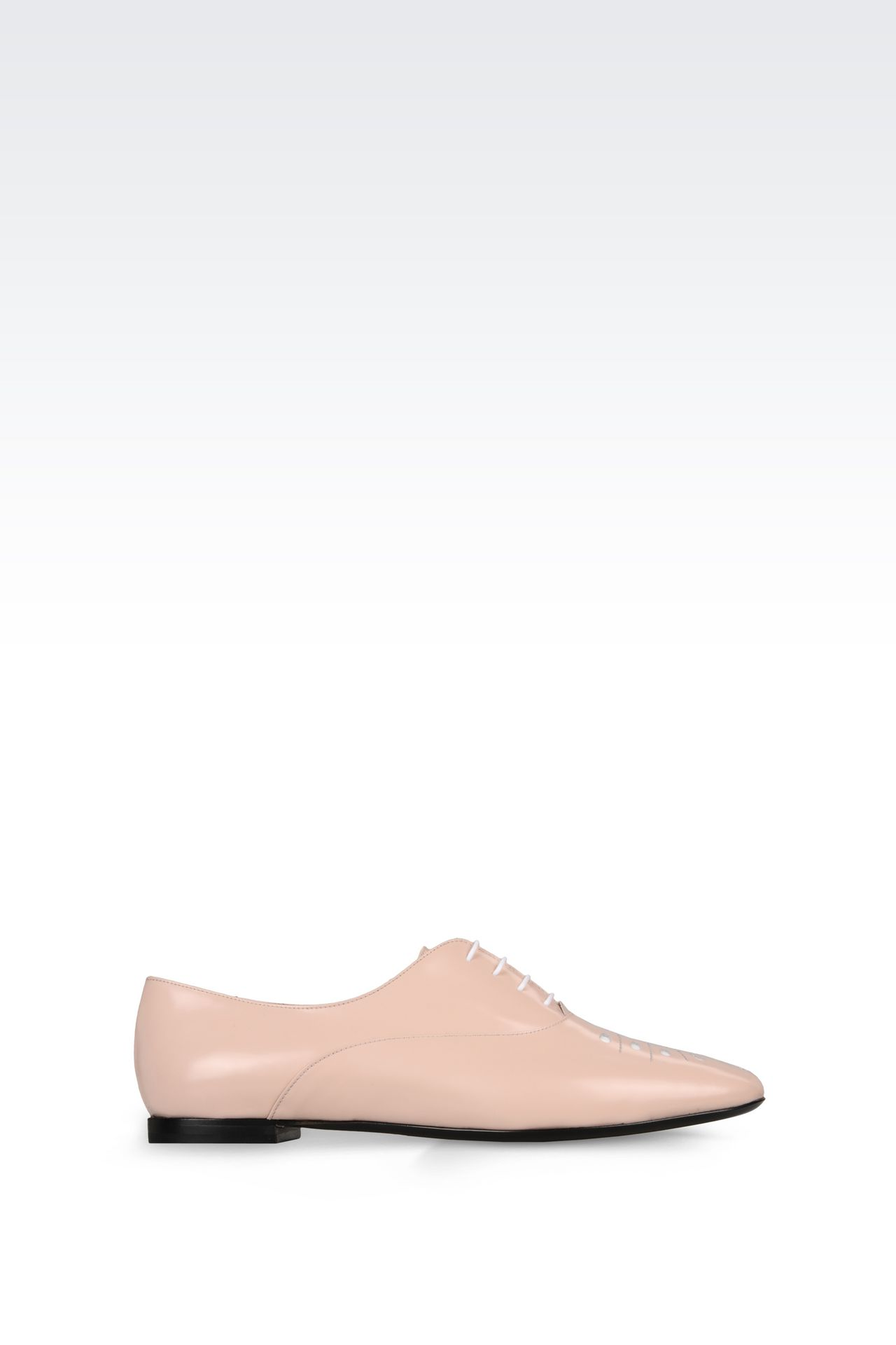 CALFSKIN BROGUE: Lace-up shoes Women by Armani - 0