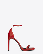 Classic Jane Ankle Strap 105 Sandal In Red Leather
