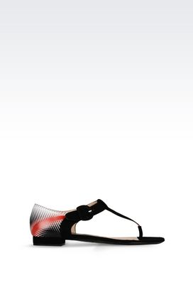 Armani Flip flops Women suede sandal