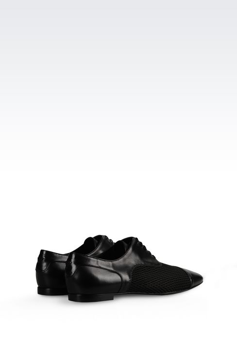 NAPA LEATHER BROGUE: Lace-up shoes Women by Armani - 3