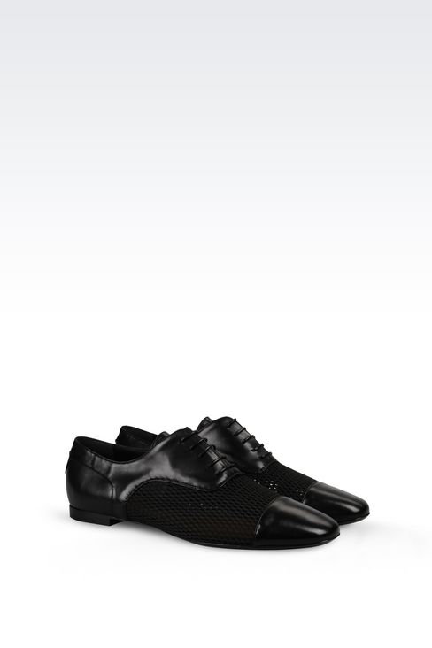 NAPA LEATHER BROGUE: Lace-up shoes Women by Armani - 2