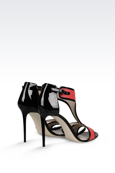 PATENT SANDAL: High-heeled sandals Women by Armani - 3
