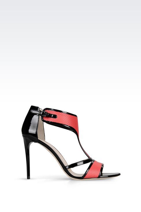 PATENT SANDAL: High-heeled sandals Women by Armani - 1