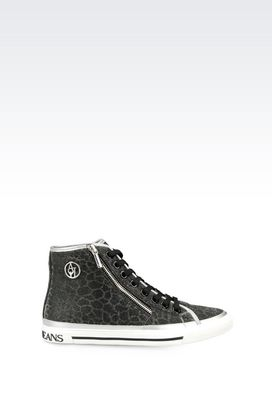 Armani High-top sneakers Women high-top sneaker in fabric
