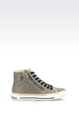 Armani High-top sneakers Women high top sneaker in fabric