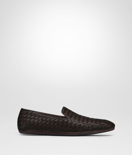 OUTDOOR SLIPPER IN ESPRESSO INTRECCIATO CALF