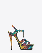 Classic TRIBUTE 105 Sandal in Multicolor Python Embossed Leather