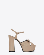CANDY 80 Bow Sandal in Powder Leather