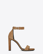 GRACE 105 Ankle Strap Sandal in Sand Suede