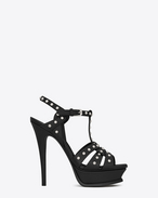 Classic TRIBUTE 105 Studded Sandal in Black Leather and Nickel