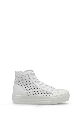 Armani Sneakers Women high top sneaker in leather
