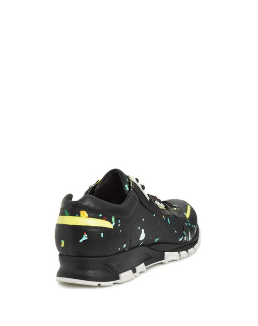 lanvin runners in printed polyester and calfskin men