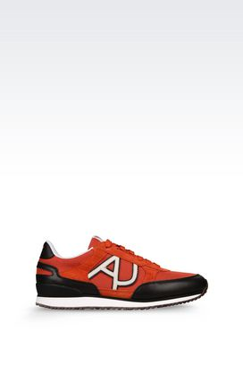 Armani Sneakers Men sneaker in canvas and leather with logo