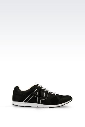Armani Sneakers Men sneaker in mesh and canvas