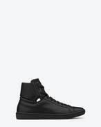 Signature Sl/01H Court Classic High Top Sneakers In Black Leather