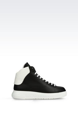 Armani Sneakers Men high top sneaker in leather