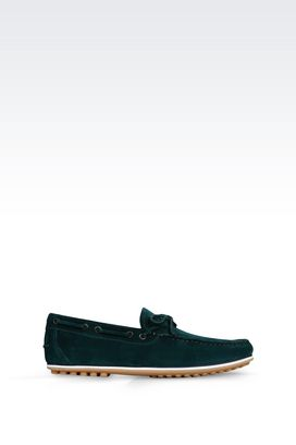 Armani Loafers Men suede driving shoe