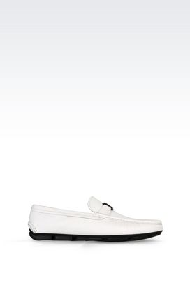 Armani Moccasins Men driving shoe in saffiano calfskin