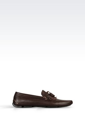 Armani Moccasins Men driving shoe in calfskin