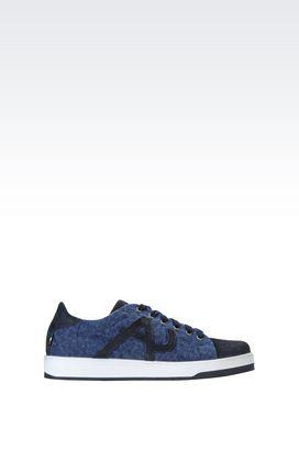 Armani Sneakers Für Ihn sneaker aus canvas und wildleder mit logo