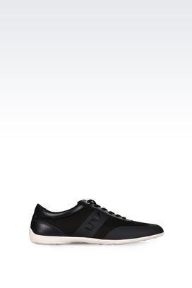 Armani Sneakers Men classic sneaker in leather with logo