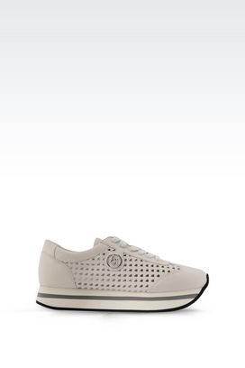 Armani Sneakers Women sneaker in perforated leather