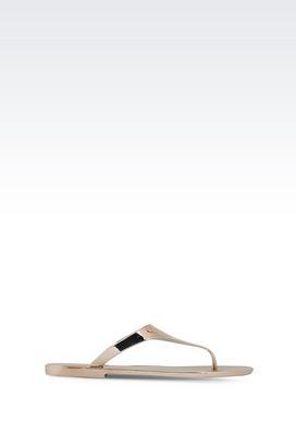 Armani Sandaletten Für sie dianetten aus gummi in lamé-optik